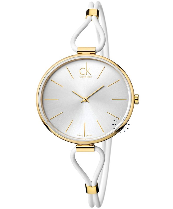 CALVIN KLEIN Selection White Leather Strap Τιμή: 267€ http://www.oroloi.gr/product_info.php?products_id=34676
