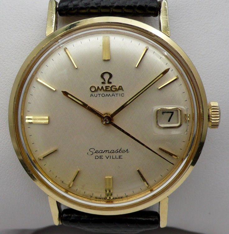 Omega refKL6292 Rare Auto 2A0J Cal560 14k Gold Filled Omega Seamaster Watch MINT | eBay