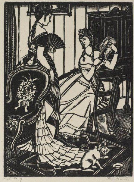 Woodblock print by Thea Proctor circa 1932
