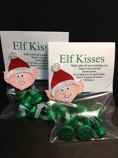 My Creative Corner!: Elf Kisses -  cute for inexpensive Christmas gifts!  Stampin' Up!
