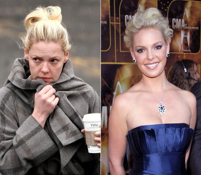Celebrities: With And Without Makeup