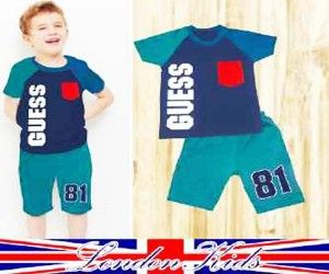 Baju setelan anak laki-laki murah warna biru cerah dr bahan cotton adem dan lembut, buat anak usia 2 thn sd 6thn