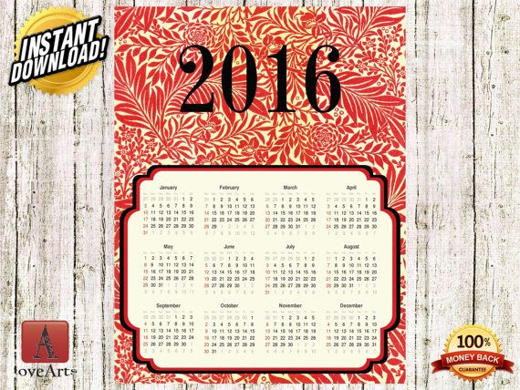 Hey, I found this really awesome Etsy listing at https://www.etsy.com/listing/257141852/instant-download-vintage-calendar-2016