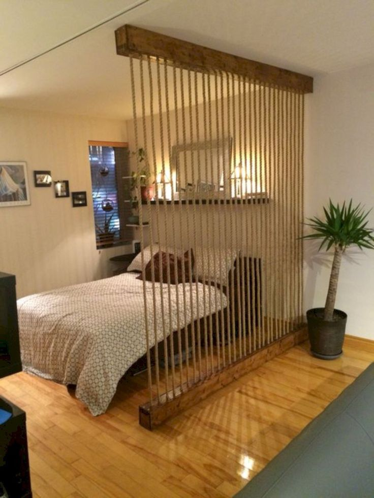 Rope Wall Room Divider To Break Up Loft Style Space