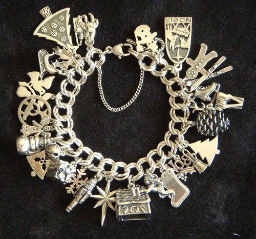 James Avery Sterling Sliver Christmas Charm Bracelet