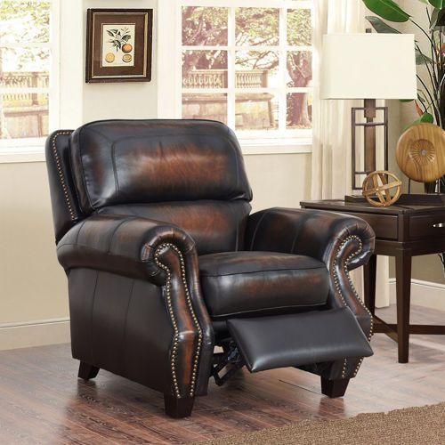 Arlington 3 Piece Top Grain Leather Set With Pushback