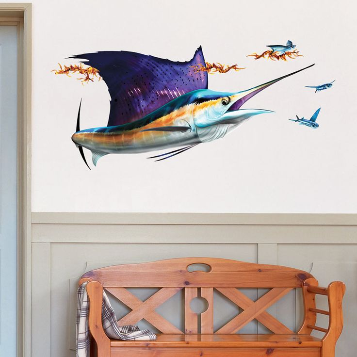 Best Fish Wall Art Decals Images On Pinterest Wall Art Decal - Decals for boats australiaboat wrapsbonza graphics australia