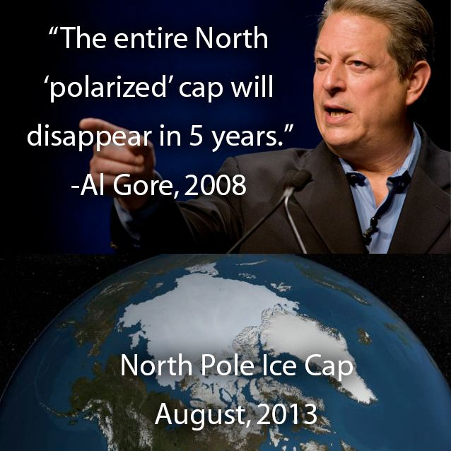 ...Al Gore...What an Idiot That's why those Ice breaker boats got STUCK at the North Pole !!!!