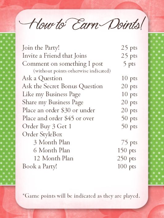 Great points idea  for online Jamberry parties www.kimd.jamberrynails.net