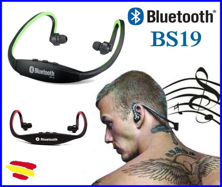 AURICULARES BS19 Bluetooth inalámbricos estéreos Microfono LLAMADAS