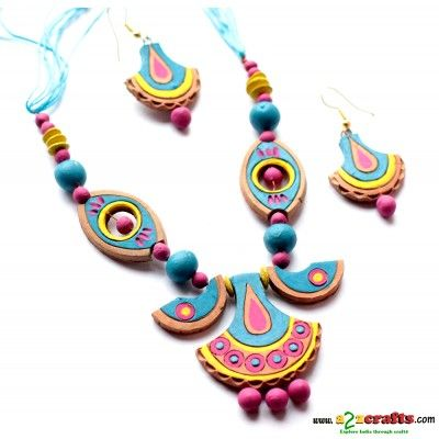 Exclusive Terracotta Jewelry - Terracotta - Rs. 390 - Hand Made Crafts - Buy & Sell Indian Handmade Crafts and Handmade terracotta, dokra Jewelry and Gifts