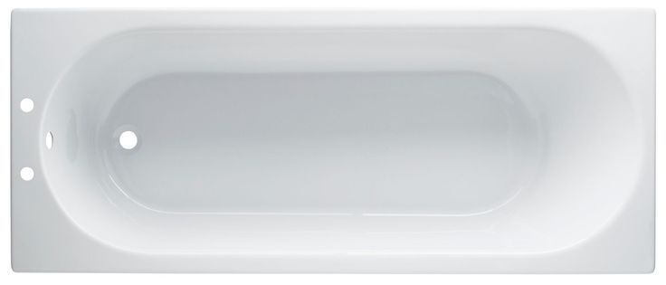 Cooke & Lewis Shaftesbury Supercast Acrylic Rectangular Straight Bath (L)1500mm (W)700mm | Departments | DIY at B&Q
