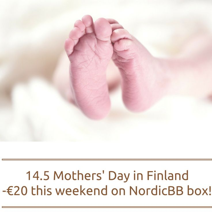 "In honor of the Mother's Day in Finland, we are offering this weekend (13-14.5) a discount of 20 € on all NordicBB box! Enter the promotional code ""momday"" and enjoy!"