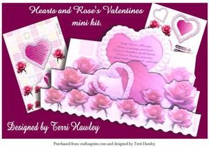 Hearts and Roses Valentines Mini Kit on Craftsuprint - View Now!