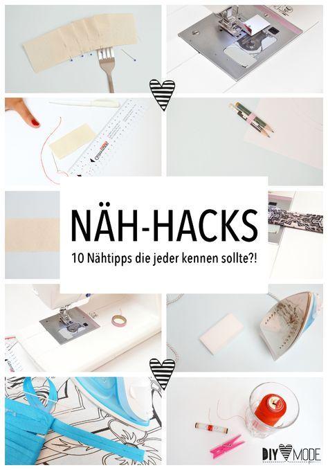 10 Nähhacks Nähtipps Tricks für Anfänger Hacks Nähen Tipps