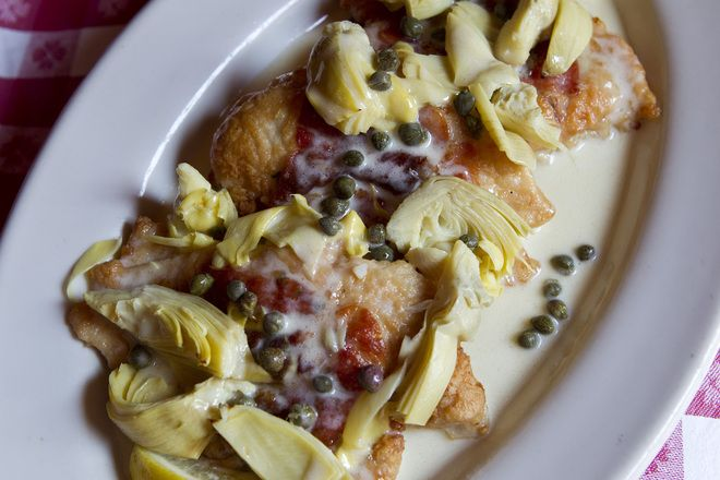 Buca di Beppo's Chicken Saltimbocca recipe straight from one of the restuarants General Managers. Insanely delicious!