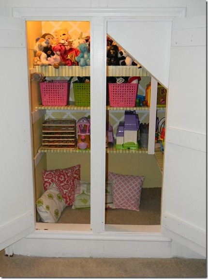 84 best a closet over stairs images on pinterest home Closet toy storage ideas