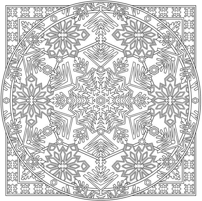 creative haven snowflake mandala colouring book dover. Black Bedroom Furniture Sets. Home Design Ideas