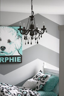 I love this chandelier and color scheme but...what a cute idea for a pet pic, too...am thinking I will do one when I move!