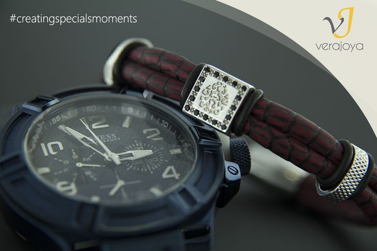 Pulsera artesanal y reloj GUESS