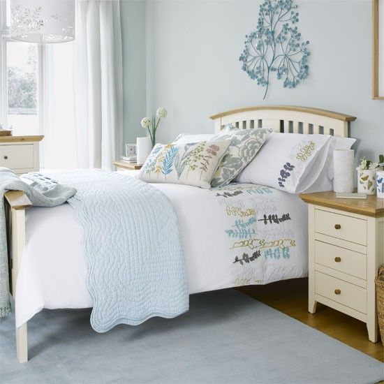 Pastel blue bedroom | Bedroom ideas | Wall art | housetohome.co.uk
