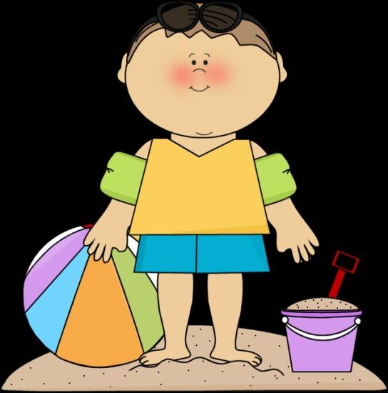 Boy at the beach. | Clip Art-Summer | Beach clipart, Clip ...