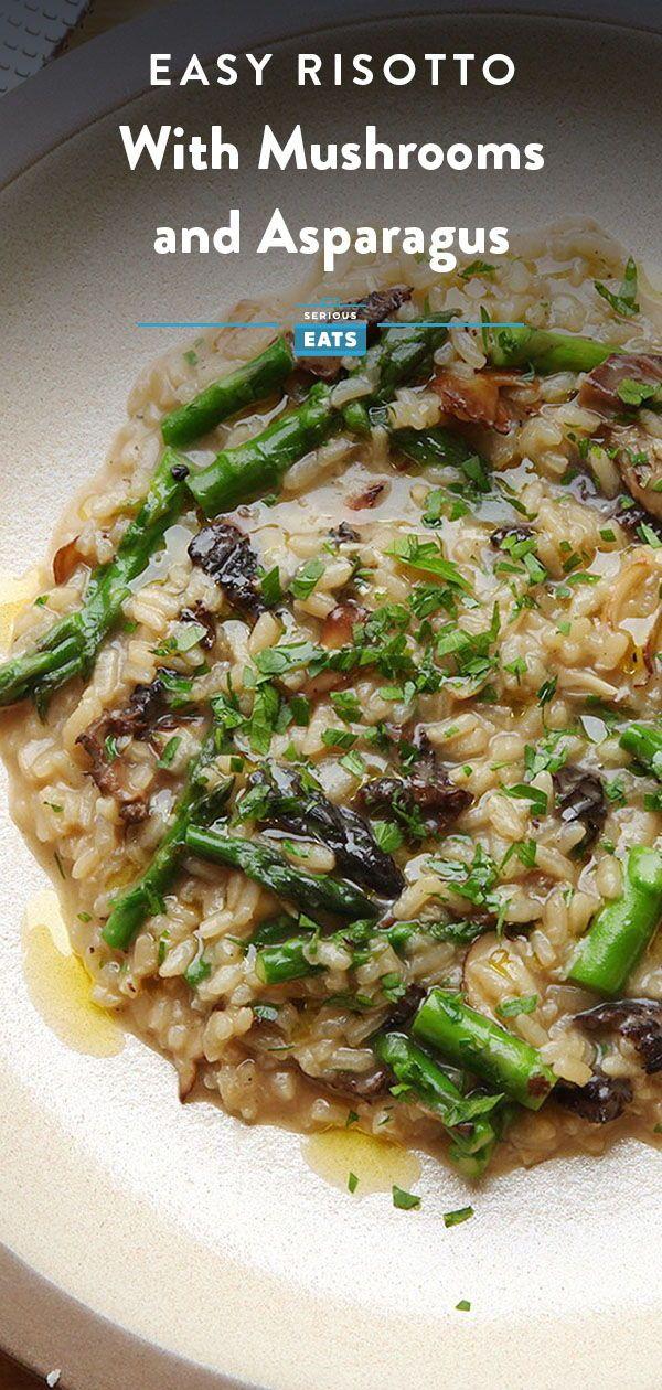 Mushroom And Asparagus Risotto Recipe Recipe Risotto Recipes Easy Asparagus Risotto Recipe Risotto Recipes Next up baked mushroom risotto