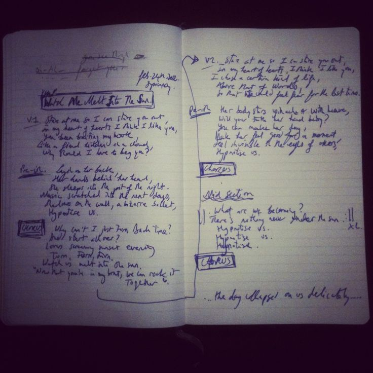 Song writing paper
