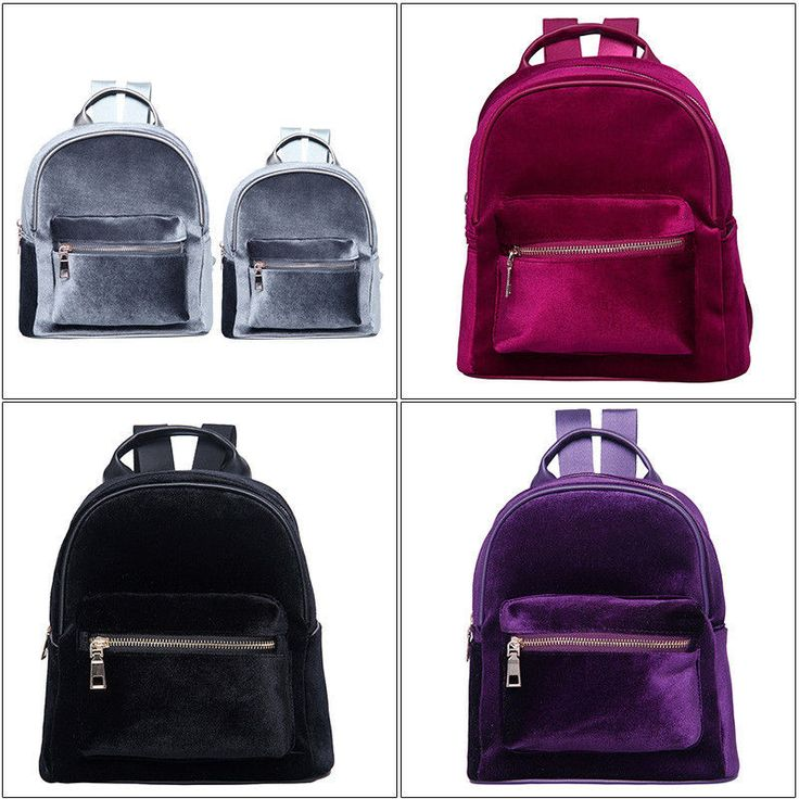 Fashion Women School Wind Velvet Backpack Travel Leisure Bag Rucksack Big/Small #Unbrand #Fashion