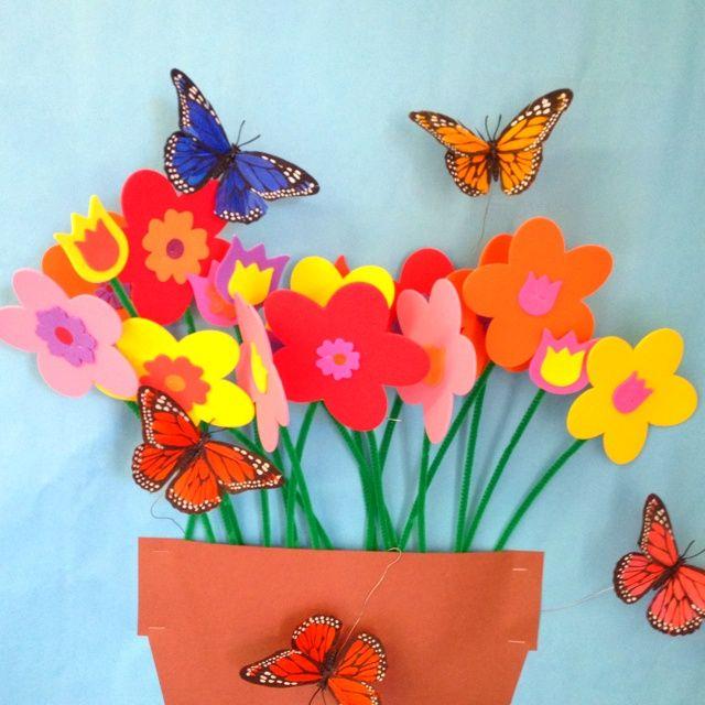 Spring 3d bulletin board deco