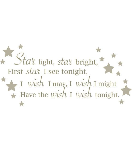 "Wall Pops Star Light Star Bright Wall Phrase Decals, 48.75"" x 21.5"""