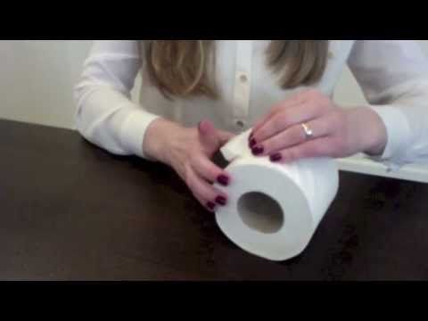 Folding a toilet paper, great for decorating your toilet paper roll after you clean the bathroom.