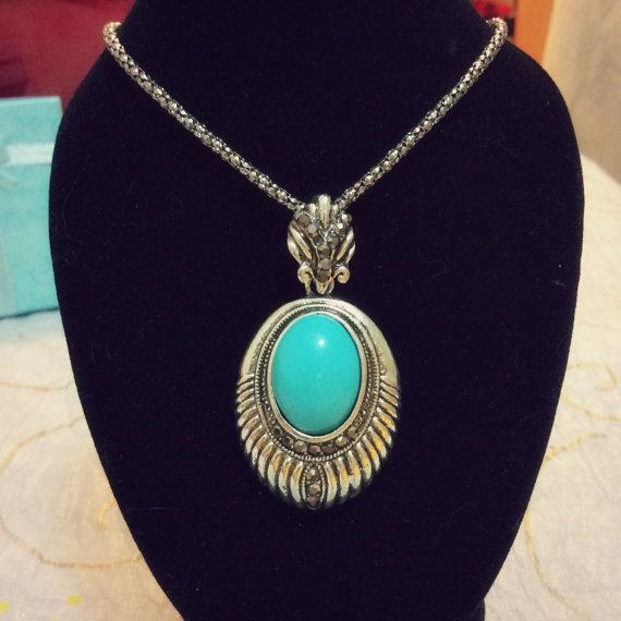 Vintage ♡at https://www.etsy.com/listing/174770251/vintage-turquoise-stone-antique-silver