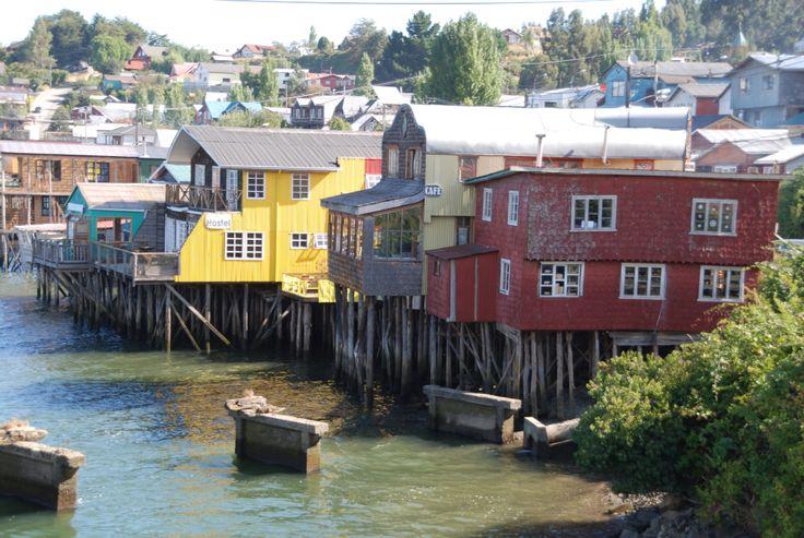 Palafitos, Castro, isla de Chiloé, Chile