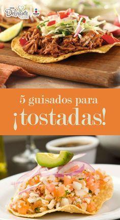 Cinco guisados que puedes servir en tostadas | CocinaDelirante