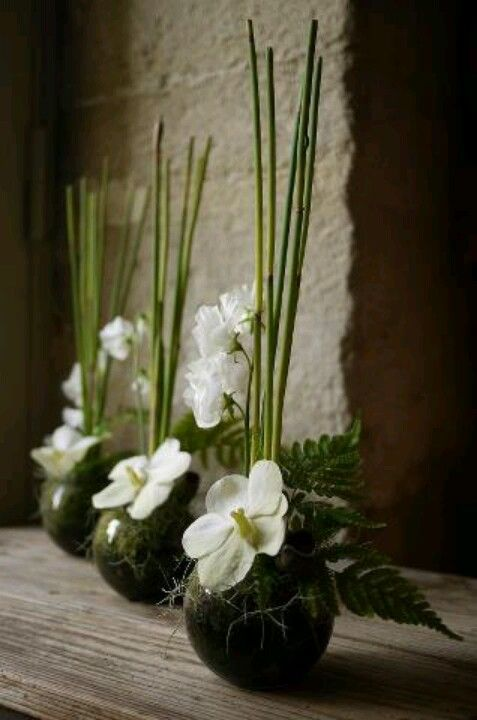small, simple ikebana arrangements for table decor