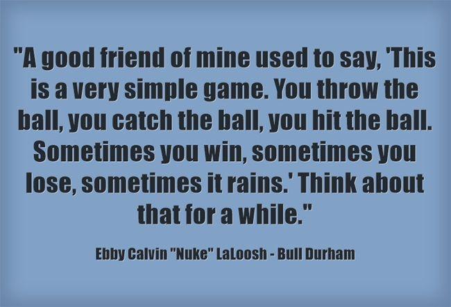 """Ebby Calvin """"Nuke"""" LaLoosh - Bull Durham"""
