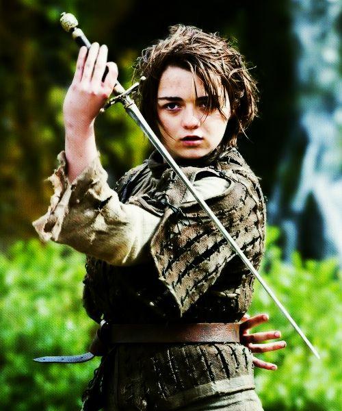 Arya Stark: Quick as a snake. Calm as still water. Strong as a bear. Fierce as a wolverine. Fear cuts deeper than swords.