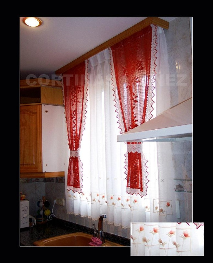31 best cortinas en cocinas images on pinterest net - Telas para cortinas modernas ...