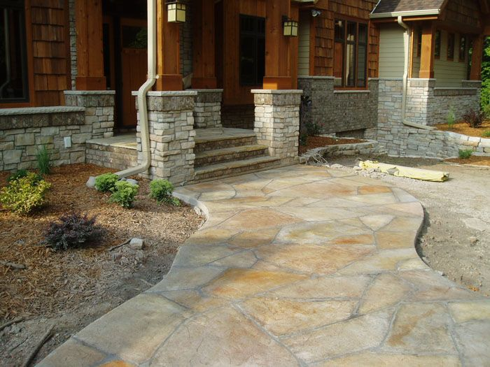 The 25 best stamped concrete walkway ideas on pinterest - Stamped concrete walkway ideas ...