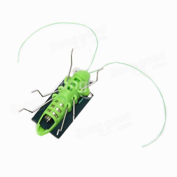 Educational Solar powered Grasshopper Toy Gadget Gift - US$2.74