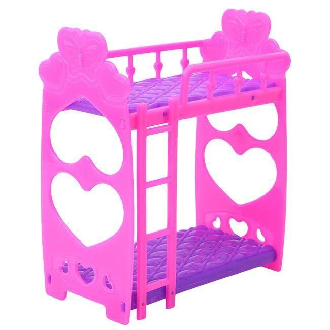 1 79 Aud Kids Girls Dollhouse Plastic Bunk Bed Bedroom