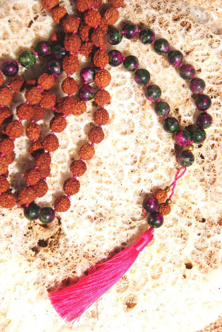 Pink Uluwatu Mala - yoga praying mala - spiritual gift by HoliMalas on Etsy https://www.etsy.com/listing/455544858/pink-uluwatu-mala-yoga-praying-mala