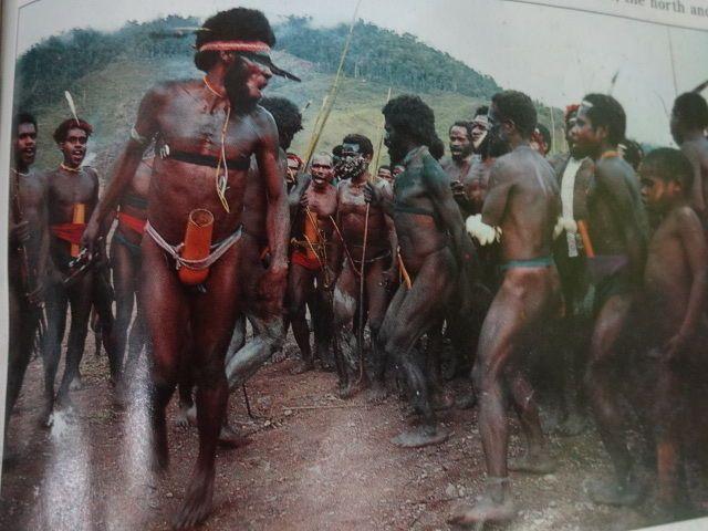 Asmat Adze Axe Cannibals Villagers Papua New Guinea Sepik