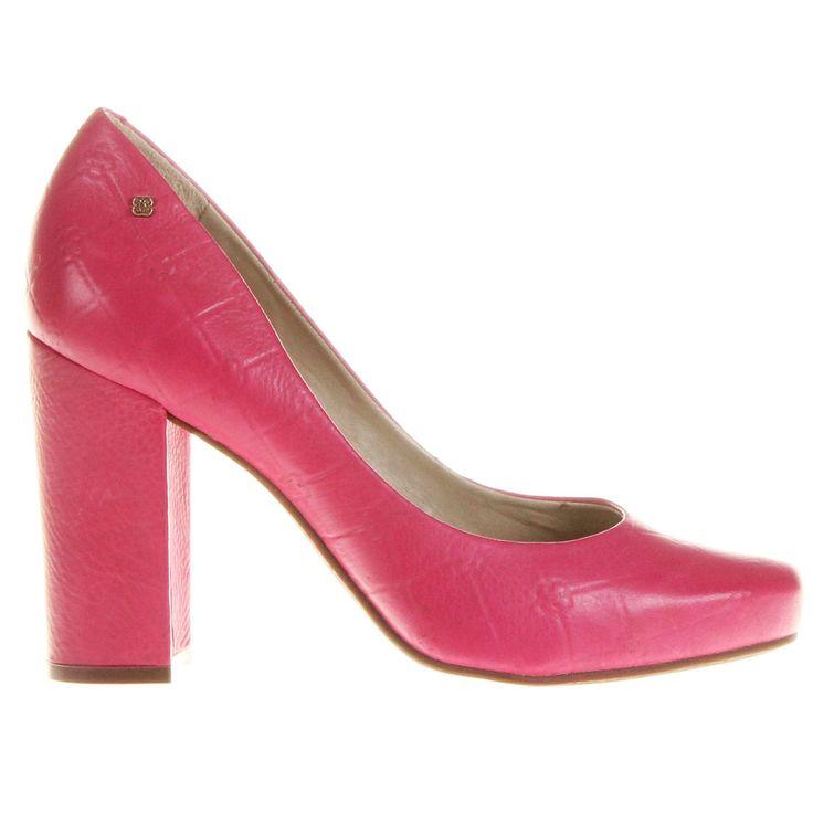 Scarpin Capodarte Monograma Salto Grosso Pink | Zattini - A nova loja de moda online da Netshoes