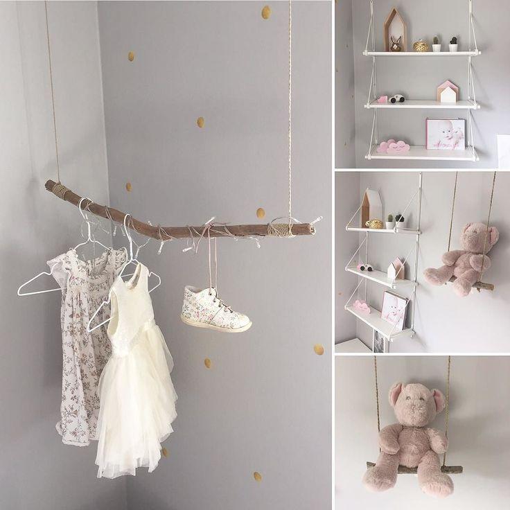 Fler bilder från M:s rum.  Gungan med nallen från födseln.   #barnrumsinspo @barnrumsinspo @finabarnsaker #finabarnsaker #barnrum #flickrum #gunga #barnrumsinredning #barnsoffa #loppisfynd #diy #ikea @stickstay.se #alrco #kidsroom by husnummerfjorton