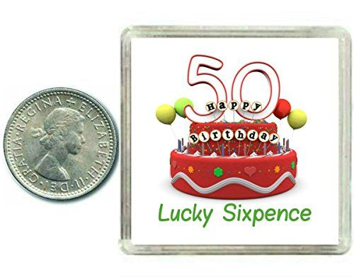 50th Birthday Lucky Sixpence Gift, Great good luck present idea for man or woman - Royal Hub