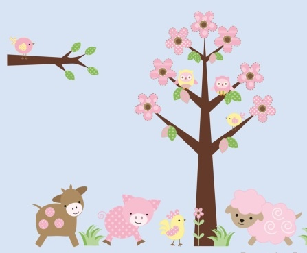 Farm Animal Wall Decals Kids Farm Animal Wall Decal Stickers, Childrens Wall  Decals Stickers Part 37