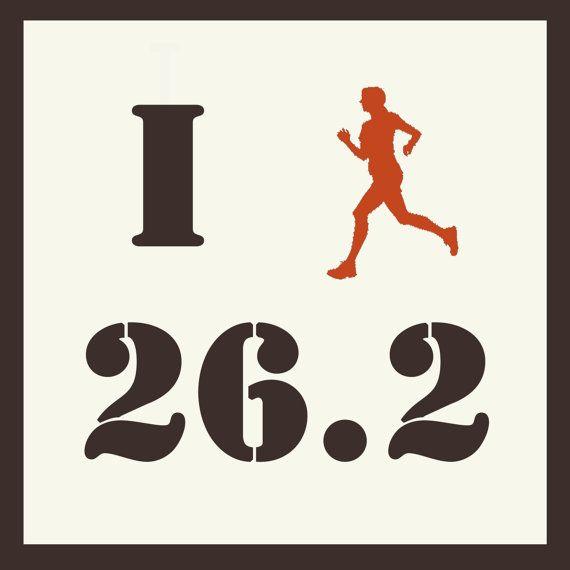 Printable Marathon Sign  Marathon Running  by GotPaperDesigns, $5.00