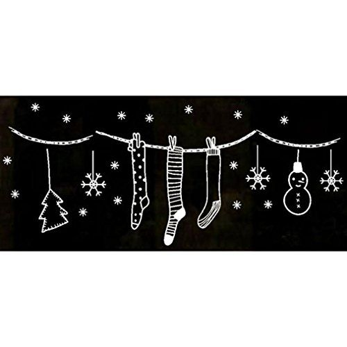 Tuscom Merry Christmas Wall Art Removable Home Vinyl Wind...